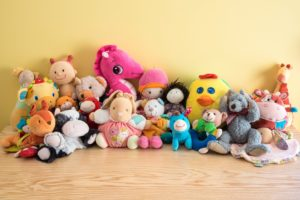 Many plush toys