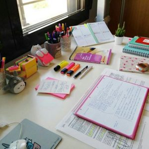 Books and study area